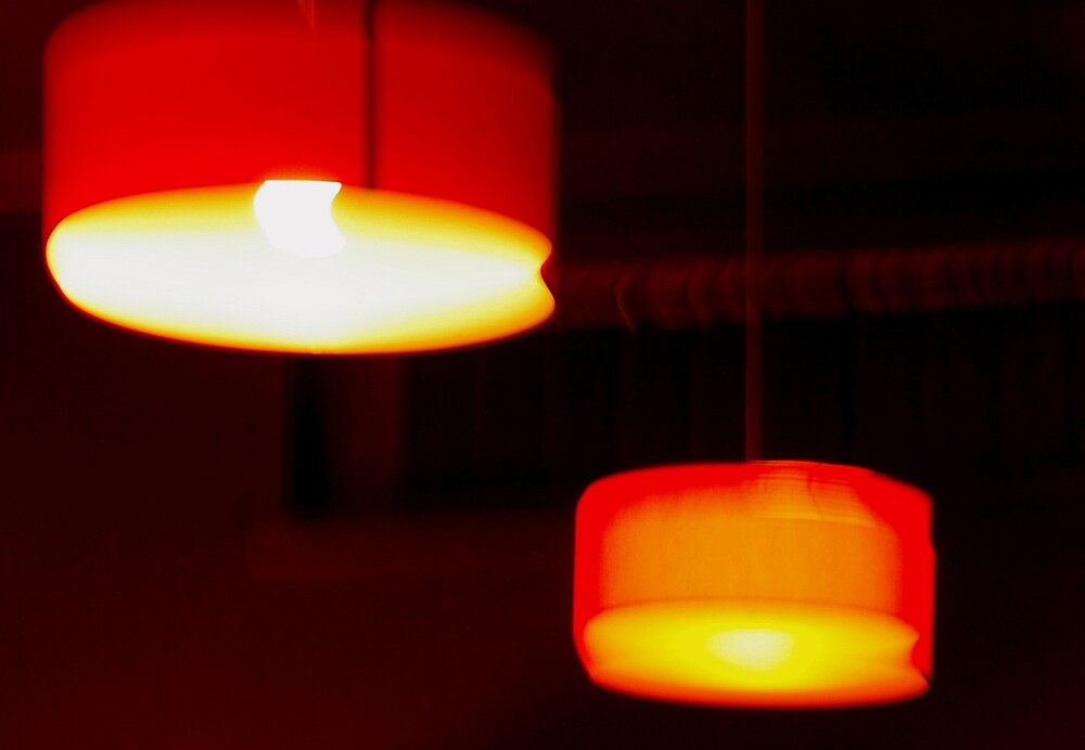 Retreating lamps by Leigh  Parkin