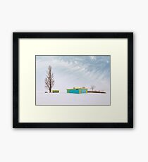 How To Wear Bright Colors In The Winter Framed Print