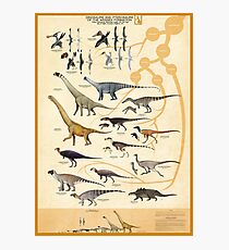 Dinosaurs and Pterosaurs of the Wessex Formation, England Photographic Print