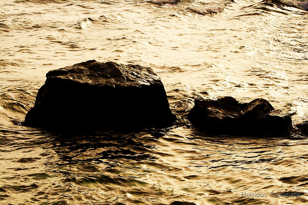 rock and water by Harrison  Cassimatis