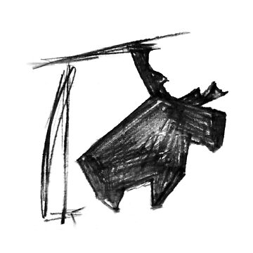 Proud Moose Pencil Sketch by ofmooseandmen