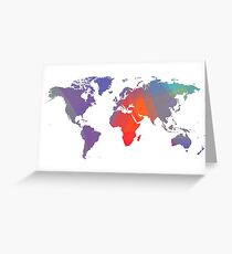 Colorist map Greeting Card