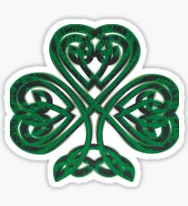 Celtic Irish St Patrick's Day Shamrock Shirt Sticker