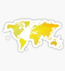 Gelber mp der Welt Sticker