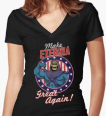 Camiseta entallada de cuello en V MAKE ETERNIA GREAT AGAIN