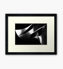 Black into white into grey Framed Print