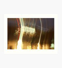 Singapore Night Light PhotoArt Art Print