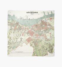 Vintage Map of Gothenburg, Sweden Scarf
