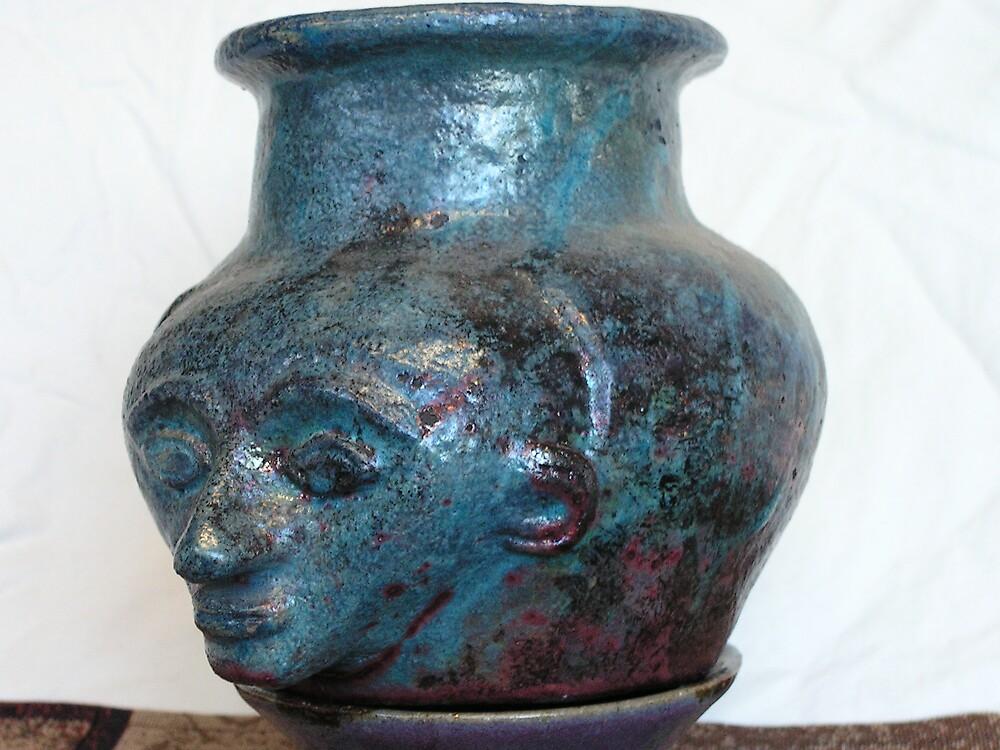hand built, raku jar by fatman