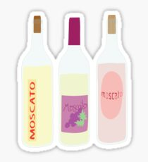 Moscato Wine Bottles Sticker