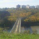 high bridge and train tracks  by oilersfan11