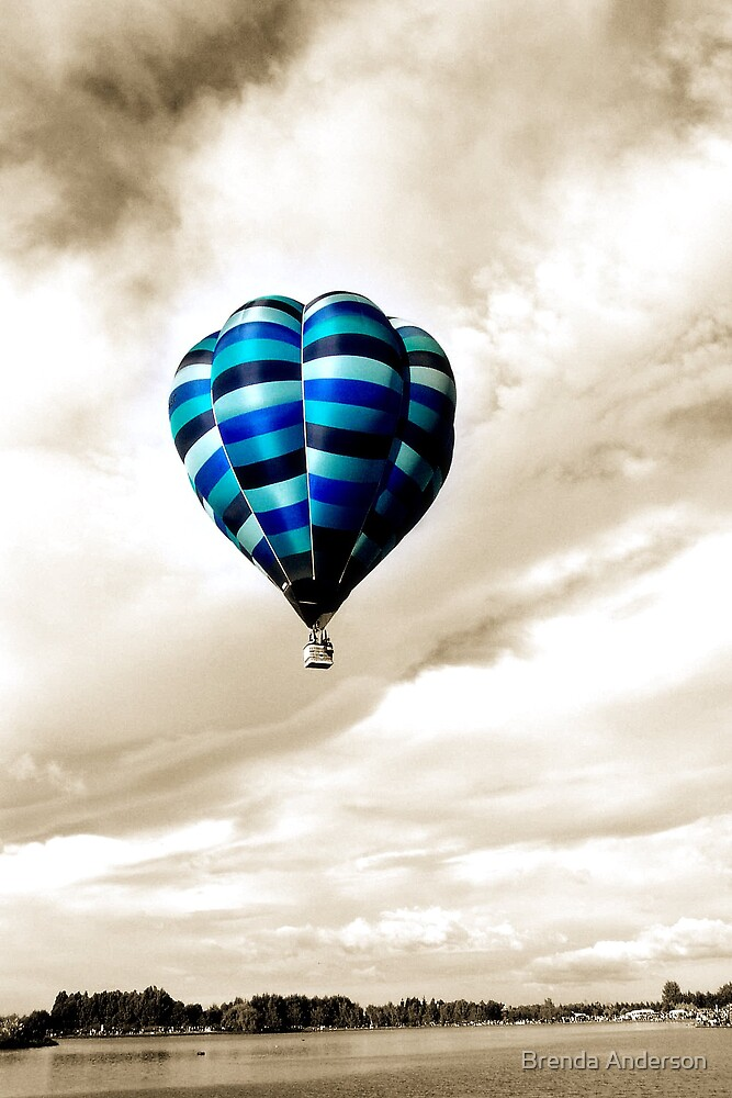 Blue Balloon by Brenda Anderson