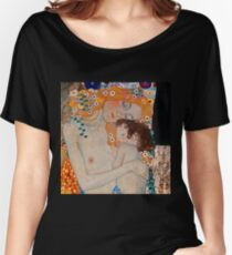 Gustav Klimt, mother and child,reproduction,art nouveau,great art from vintage painters Women's Relaxed Fit T-Shirt