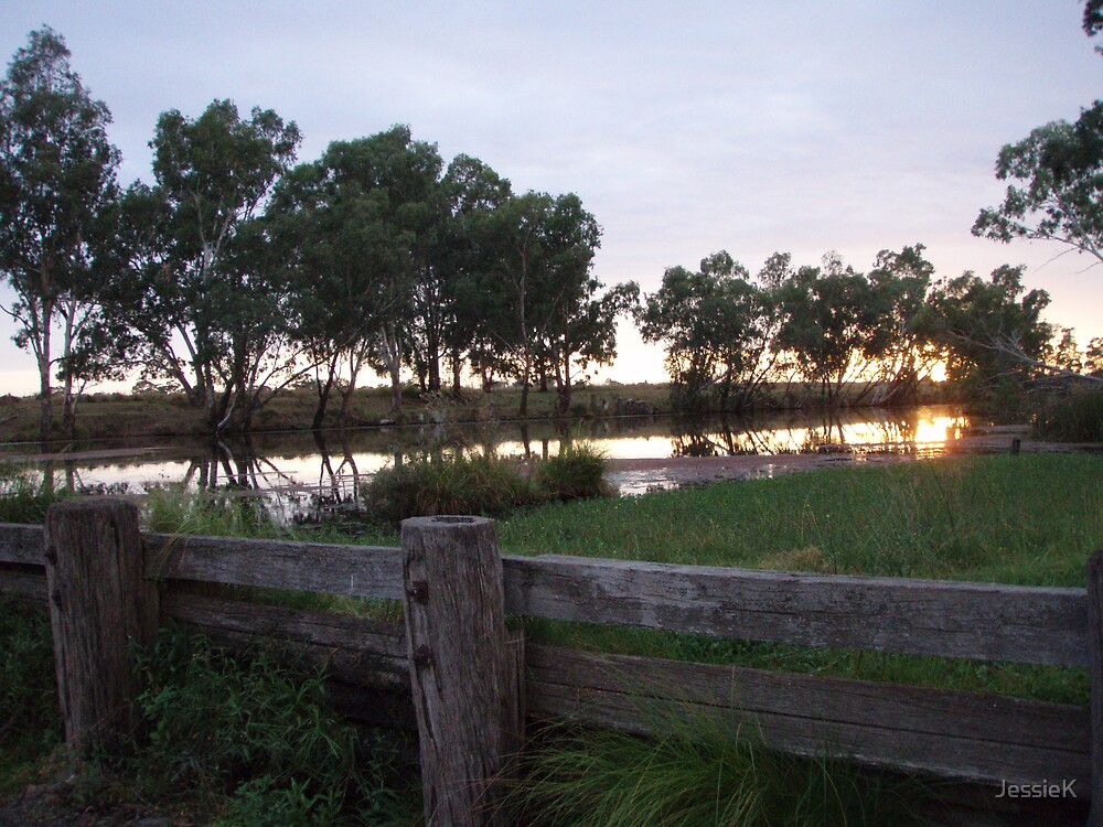 Greenup Weir Sunrise by JessieK