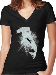 Weaponized Soul Women's Fitted V-Neck T-Shirt