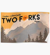 Two forks region poster Poster