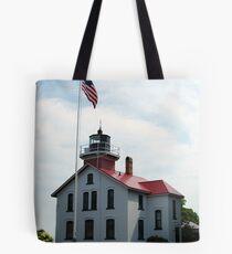 Traverse Bay Lighthouse Tote Bag