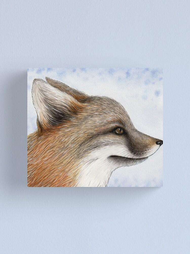 Alternate view of Grey Fox Canvas Print