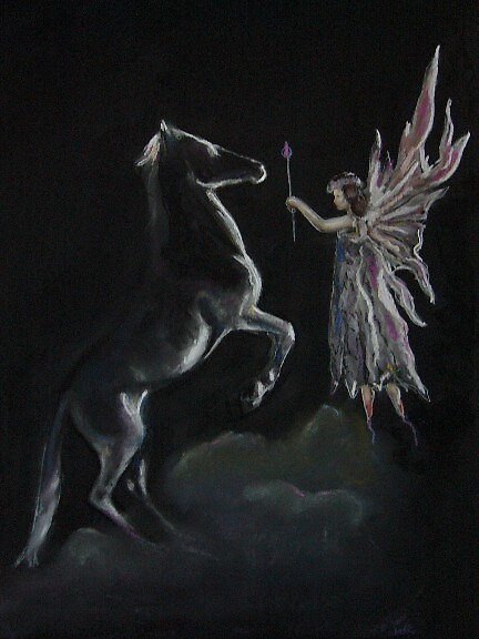 Fairy and Stallion. by uniqueartworks