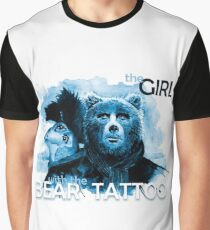 The Girl with the Bear tattoo Graphic T-Shirt