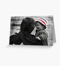 Happy Baby on a Rainy Day Greeting Card
