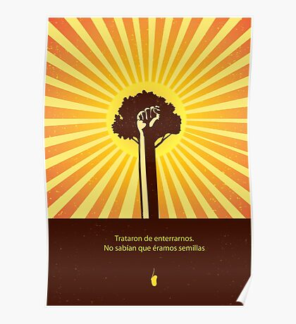 Mexican Proverb minimalist quote  Poster