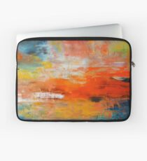 Red abstract sunset landscape painting Laptop Sleeve