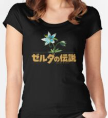 Zelda Breath of the Wild Flower Women's Fitted Scoop T-Shirt