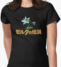 Zelda Breath of the Wild Flower Women's Fitted T-Shirt