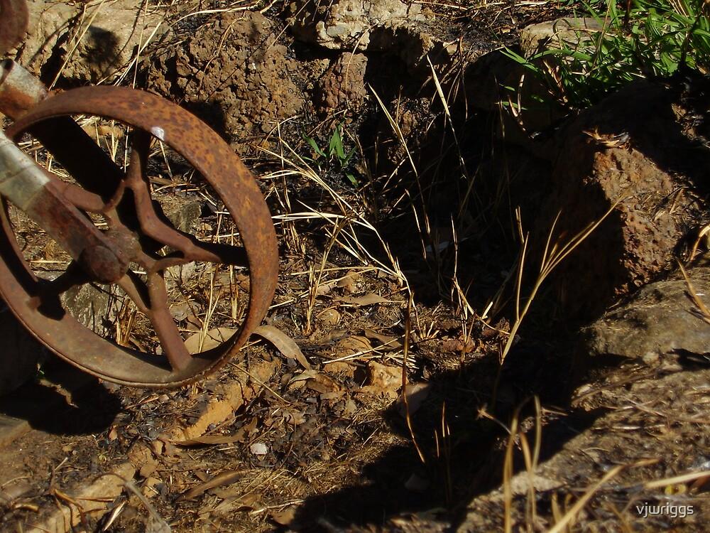 Rusty Wheel by vjwriggs