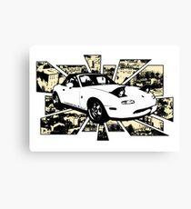Mazda MX5 Graphic (MIATA, EUNOS ROADSTER) Canvas Print