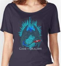 Game of Dragons - HTTYD2/GoT (With Text) Women's Relaxed Fit T-Shirt
