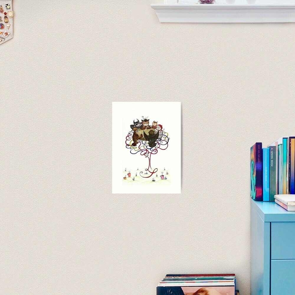 Art-School Owl Assembly Art Print