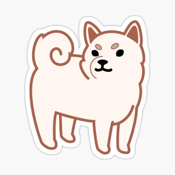Shiba (white) Sticker