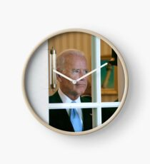 Joe Biden Staring Out Window Clock