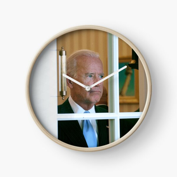 Joe Biden Staring Out Window Clock