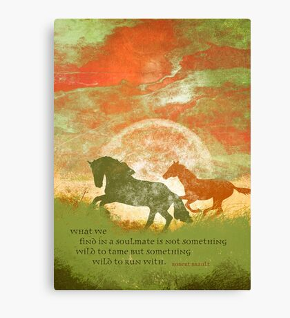 What We Find in a Soulmate... Canvas Print