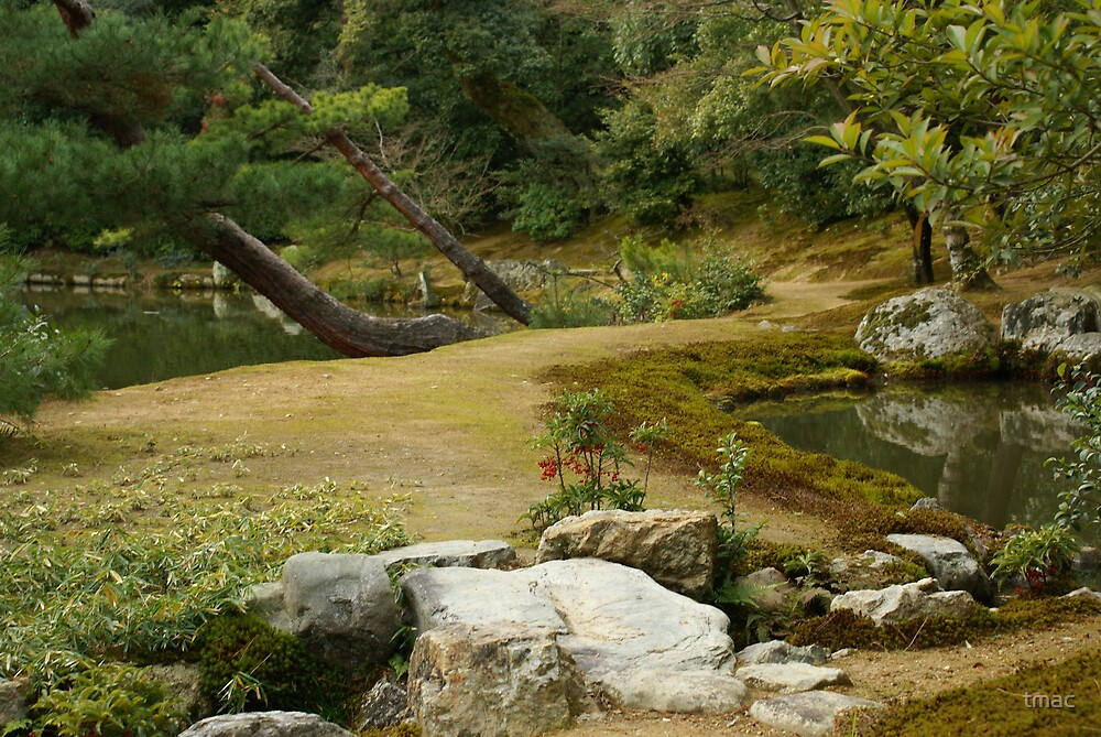 Japan - path around golden temple by tmac