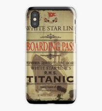 Vintage Image Titanic Pass iPhone Case/Skin