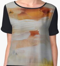 Abstract Painting on Paper - Study Women's Chiffon Top