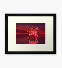 Riding at Dusk Framed Print