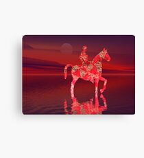 Riding at Dusk Canvas Print