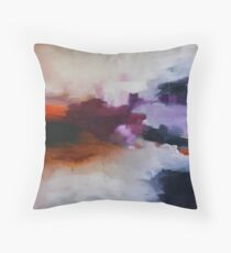 Lavender Field, purple abstract print from original painting  Throw Pillow
