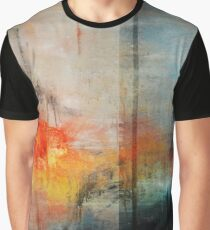 Large Abstract Art, Blue Orange Abstract Print  Graphic T-Shirt