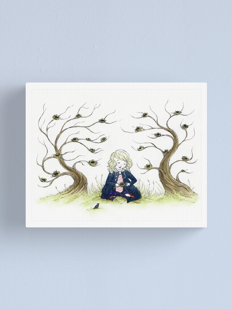 Alternate view of For the Birdies Canvas Print