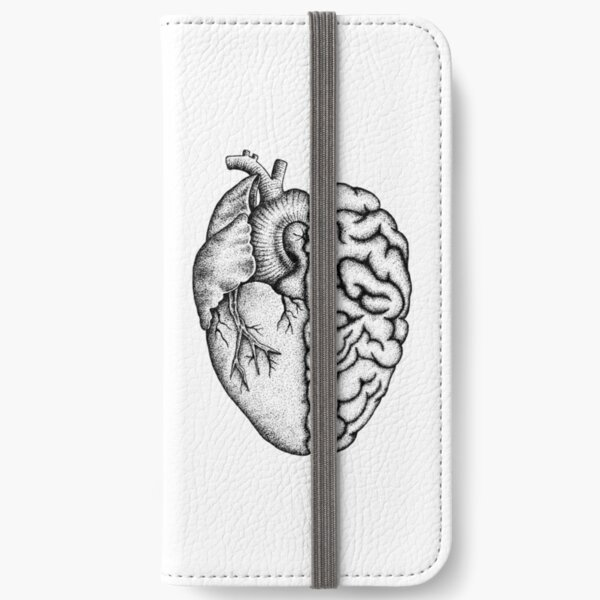 Heart and Brain iPhone Wallet