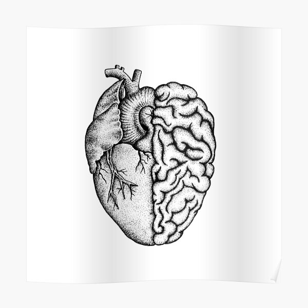 Heart and Brain Poster