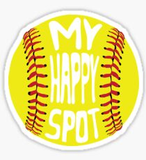 Softball, My Happy Spot Sticker