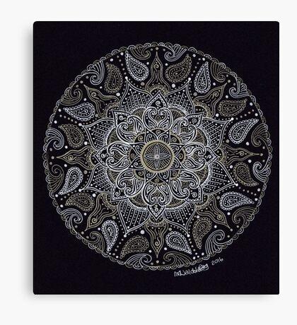Rich Paisley Mandala Canvas Print