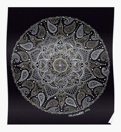 Rich Paisley Mandala Poster